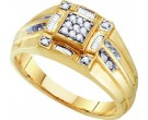 Men's Diamond Cluster Ring 10K Yellow Gold 0.27 cts. GD-21574