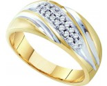 Men's Diamond Ring 10K Yellow Gold 0.25 cts. GD-21581