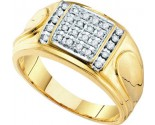 Men's Diamond Cluster Ring 10K Yellow Gold 0.25 cts. GD-18442