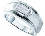 Men's Diamond Ring 14K White Gold 0.25 cts. GD-25897