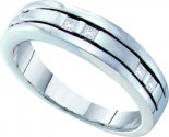 Men's Diamond Ring 14K White Gold 0.25 cts. GD-25936