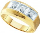 Men's Diamond Ring 10K Yellow Gold 0.09 cts. GD-26398