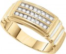 Men's Diamond Cluster Ring 10K Yellow Gold 0.25 cts. GD-26414