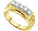 Men's Diamond Ring 10K Yellow Gold 0.50 cts. GD-26436