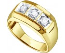 Men's Diamond Ring 10K Yellow Gold 0.50 cts. GD-26444