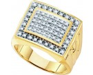 Men's Diamond Cluster Ring 10K Yellow Gold 0.50 cts. GD-26448
