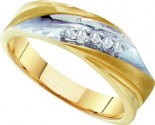 Men's Diamond Ring 10K Yellow Gold 0.10 cts. GD-26569