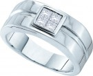 Men's Diamond Ring 14K White Gold 0.50 cts. GD-27493