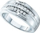 Men's Diamond Ring 14K White Gold 0.32 cts. GD-27852