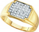 Men's Diamond Cluster Ring 10K Yellow Gold 0.25 cts. GD-40657