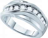 Men's Diamond Ring 14K White Gold 1.00 ct. GD-39289