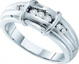 Men's Diamond Ring 14K White Gold 0.20 cts. GD-39932