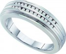 Men's Diamond Ring 14K White Gold 0.20 cts. GD-40222