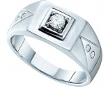 Men's Diamond Ring 14K White Gold 0.25 cts. GD-40263