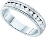 Men's Diamond Ring 14K White Gold 0.50 cts. GD-40731