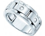 Men's Diamond Ring 14K White Gold 0.20 cts. GD-48453