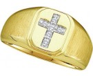 Men's Diamond Ring 10K Yellow Gold 0.05 cts. GD-49755