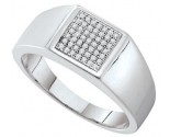 Men's Diamond Ring 10K White Gold 0.15 cts. GD-52527
