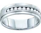 Men's Diamond Ring 14K White Gold GD-54718