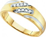 Men's Diamond Ring 10K Gold 0.12 cts. GD-55025