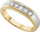 Men's Diamond Ring 10K Gold 0.25 cts. GD-55636