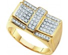 Men's Diamond Cluster Ring 10K Yellow Gold 0.50 cts. GD-55643
