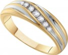 Men's Diamond Ring 10K Gold 0.16 cts. GD-55661