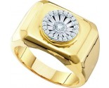 Men's Diamond Ring 14K Yellow Gold 0.42 cts. GD-55806