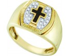 Men's Diamond Fashion Ring 10K Yellow Gold 0.15 cts. GD-57074