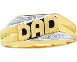 Men's Diamond Ring 10K Yellow Gold 0.01 cts. GD-7028