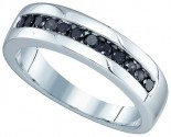 Men's Diamond Ring 10K White Gold 0.50 cts. GD-76160