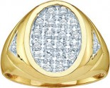 Men's Diamond Ring 10K Yellow Gold 0.25 cts. GD-7881