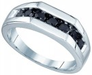 Men's Diamond Ring 10K White Gold 1.01 cts. GD-81407
