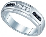 Men's Diamond Ring 10K White Gold 0.36 cts. GD-81408