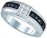 Men's Diamond Ring 10K White Gold 0.49 cts. GD-81409