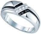 Men's Diamond Ring 10K White Gold 0.19 cts. GD-81411