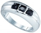 Men's Diamond Ring 10K White Gold 0.96 cts. GD-81819