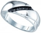 Men's Diamond Ring 10K White Gold 0.12 cts. GD-81821