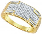 Men's Diamond Ring 10K Yellow Gold 0.42 cts. GD-85133