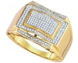 Men's Diamond Ring 10K Yellow Gold 0.40 cts. GD-85143
