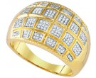 Men's Diamond Ring 10K Yellow Gold 0.43 cts. GD-85153