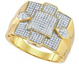 Men's Diamond Ring 10K Yellow Gold 0.46 cts. GD-85151
