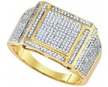 Men's Diamond Ring 10K Yellow Gold 0.63 cts. GD-85163