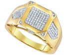 Men's Diamond Ring 10K Yellow Gold 0.37 cts. GD-85165