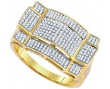Men's Diamond Ring 10K Yellow Gold 0.52 cts. GD-85179