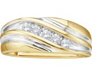 Men's Diamond Ring 10K Gold 0.25 cts. GD-9999