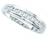 Men's Diamond Ring 10K White Gold 0.37 cts. GS-20623