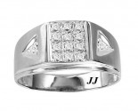 Men's Diamond Ring 10K White Gold 0.062 cts. GS-20948