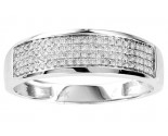 Men's Diamond Ring 10K White Gold 0.25 cts. GS-21752