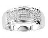 Men's Diamond Ring 10K White Gold 0.33 cts. GS-21753